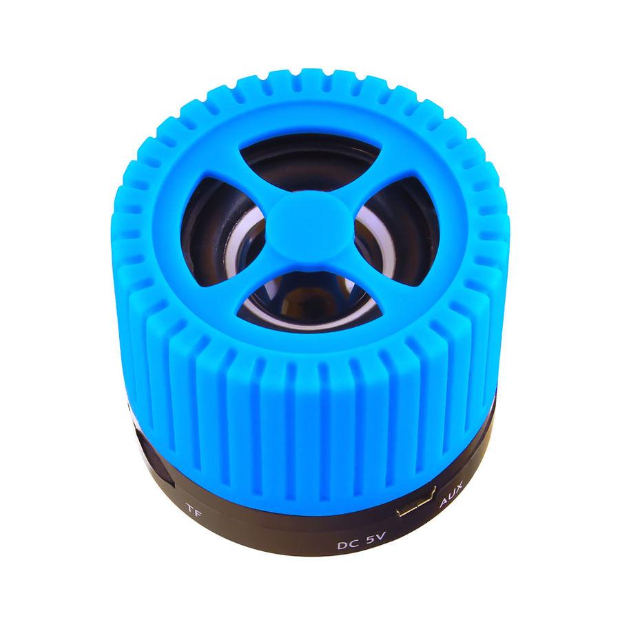 Портативная колонка GINZZU GM-988В,  3Вт, голубой  [gm-988c]