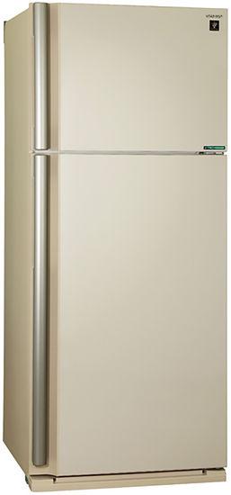 Холодильник SHARP SJ-XE59PMBE,  двухкамерный, бежевый