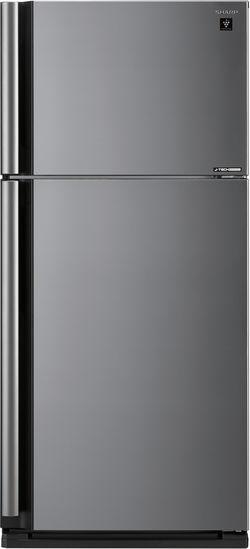 Холодильник SHARP SJ-XE59PMSL,  двухкамерный,  серебристый