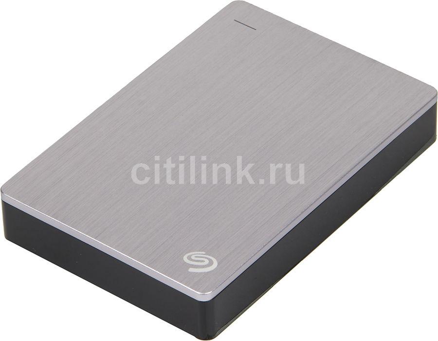 Внешний жесткий диск SEAGATE Backup Plus STDR5000201, 5Тб, серебристый