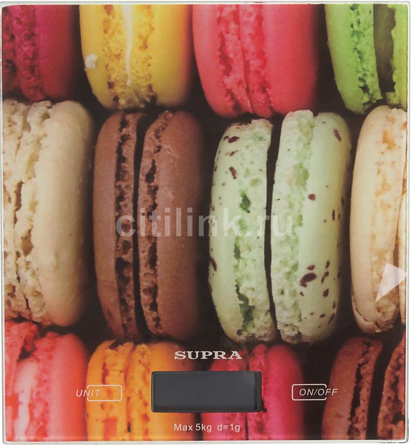 Весы кухонные SUPRA BSS-4203,  рисунок/печенье