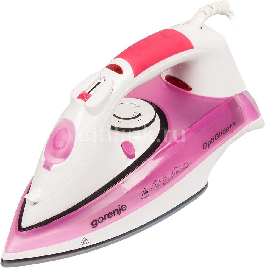 Утюг GORENJE SIH2200PC,  2200Вт,  розовый/ белый