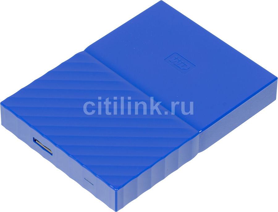 Внешний жесткий диск WD My Passport WDBUAX0020BBL-EEUE, 2Тб, синий