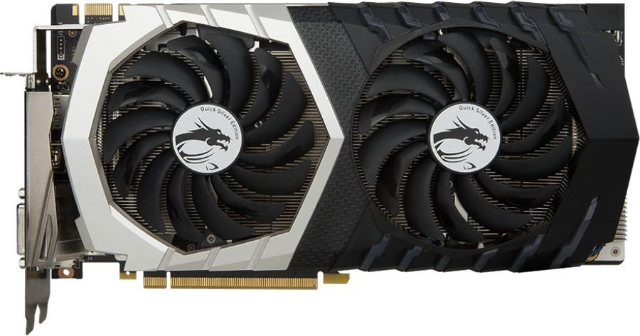 Видеокарта MSI GeForce GTX 1070,  GTX 1070 Quick Silver 8G OC,  8Гб, GDDR5, OC,  Ret