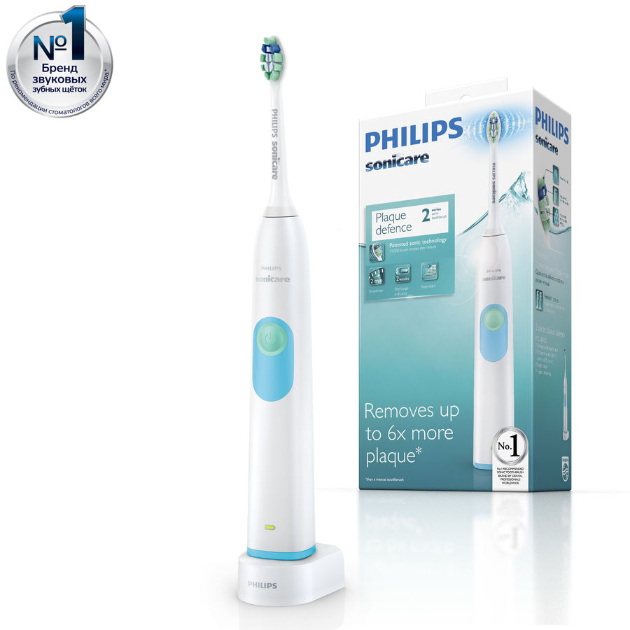 Электрическая зубная щетка PHILIPS Sonicare 2 Series HX6231/01 белый