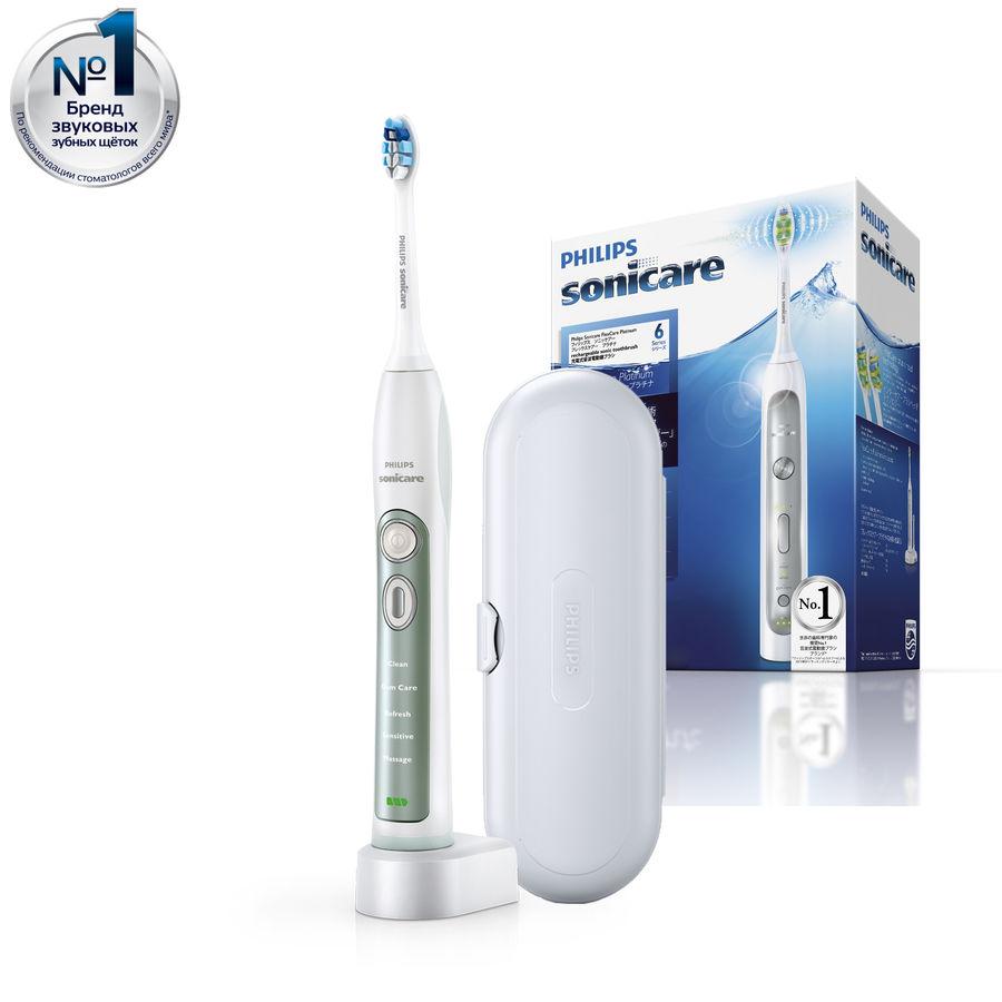 Электрическая зубная щетка PHILIPS Sonicare FlexCare+ HX6921/06 белый