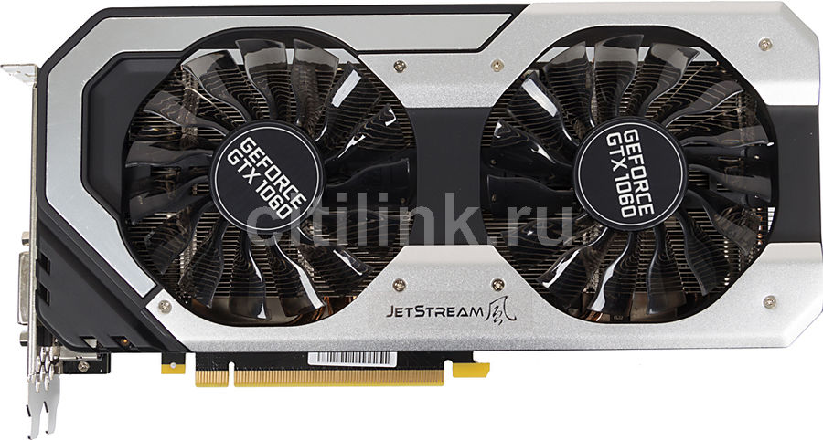 Видеокарта PALIT nVidia  GeForce GTX 1060 ,  PA-GTX1060 SUPER JETSTREAM 3G,  3Гб, GDDR5, Ret [ne51060s15f9-1060j]