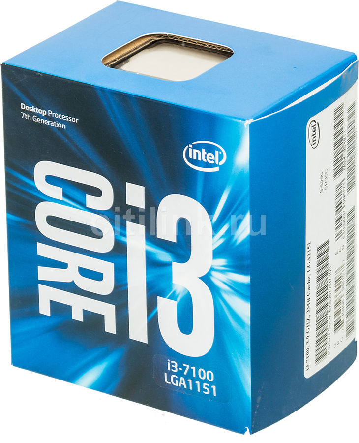 Процессор INTEL Core i3 7100, LGA 1151 BOX [bx80677i37100 s r35c] процессор intel core i5 6400 lga 1151 box [bx80662i56400 s r2l7]