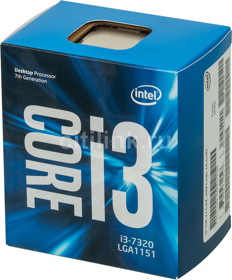 Процессор INTEL Core i3 7320, LGA 1151 * BOX [bx80677i37320 s r358]