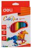 Карандаши цветные Deli ColoRun EC00110 трехгран. пластик 18цв. коробка/европод.