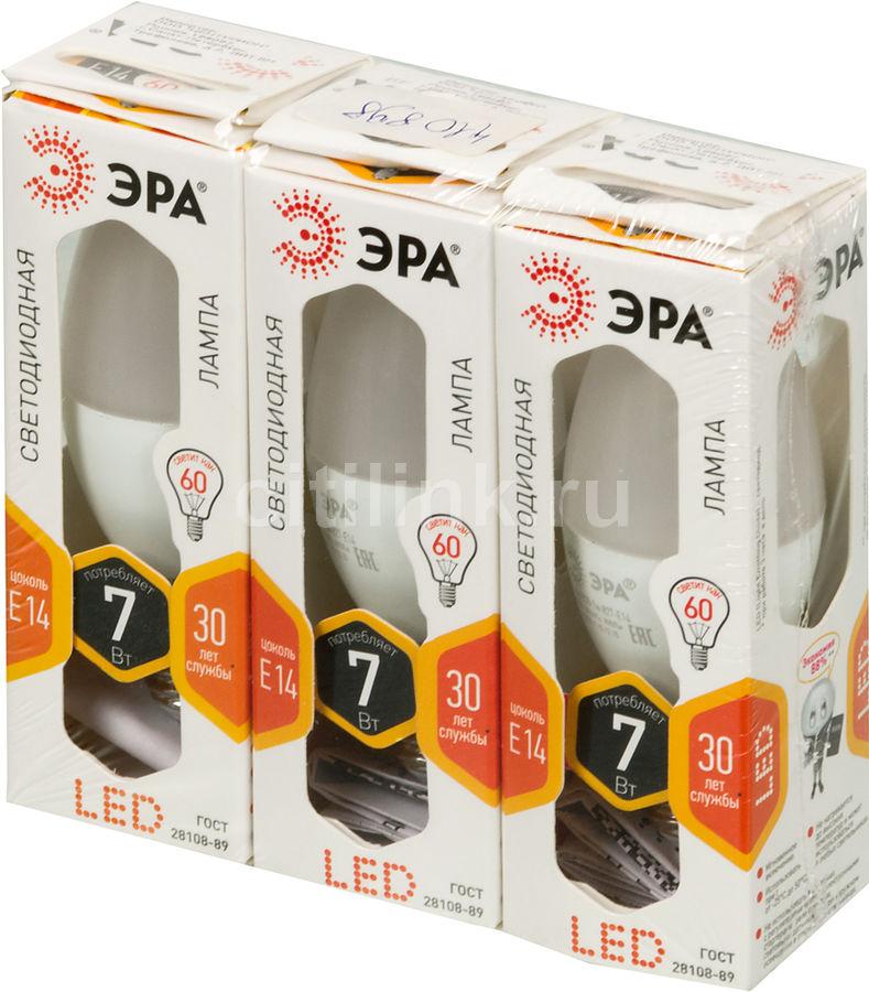 Лампа ЭРА B35-7w-827-E14, 7Вт, 900lm, 30000ч,  2700К, E14,  3 шт. [б0018402]