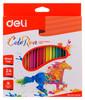 Карандаши цветные Deli ColoRun EC00120 трехгран. пластик 24цв. коробка/европод.