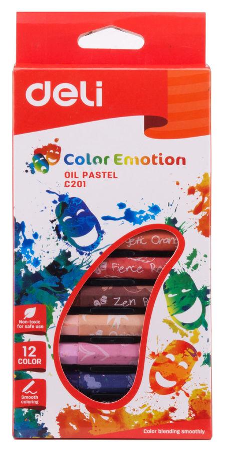 Масляная пастель Deli EC20100 Color Emotion шестигранные 12цв. картон.кор./европод.