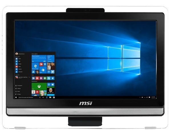 Моноблок MSI Pro 20ET 4BW-066RU, Intel Celeron N3150, 4Гб, 1000Гб, Intel HD Graphics 400, DVD-RW, Free DOS, черный [9s6-aa8b11-066]