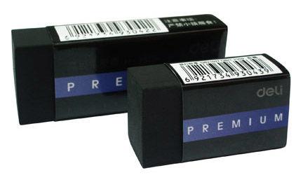 Ластик Deli Premium E3043 40x22x12мм черный индивидуальная картонная упаковка
