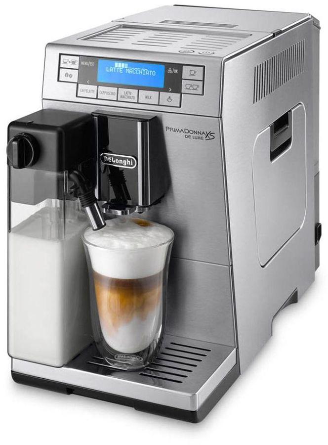 Кофемашина DELONGHI PrimaDonna XS ETAM36.364.M,  серебристый