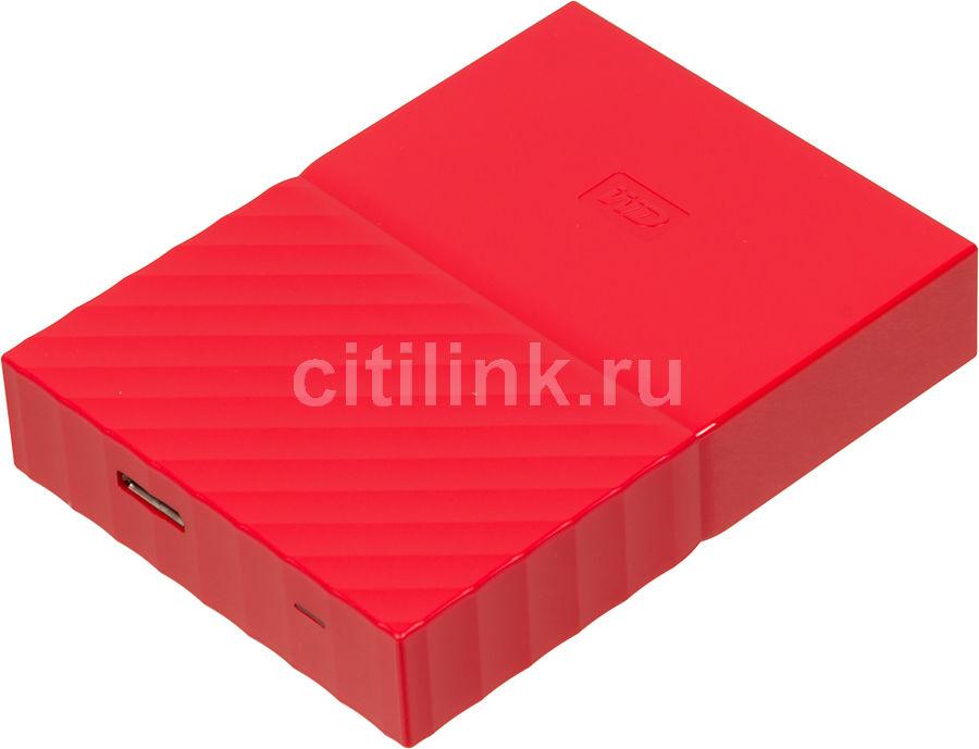 Внешний жесткий диск WD My Passport WDBBEX0010BRD-EEUE, 1Тб, красный
