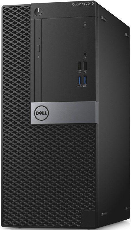 Компьютер  DELL Optiplex 7040,  Intel  Core i7  6700,  DDR4 8Гб, 256Гб(SSD),  AMD Radeon R7 350X - 4096 Мб,  DVD-RW,  Windows 7 Professional,  черный и серебристый [7040-0064]