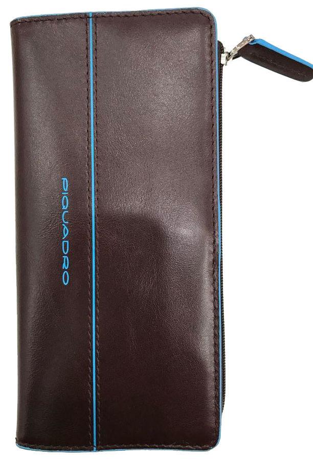 Портмоне Piquadro Blue Square AS458B2/MO коричневый натур.кожа