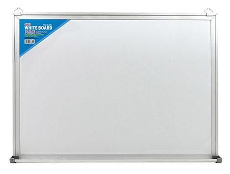 Демонстрационная доска Deli E7818 магнитно-маркерная лак 90x150см алюминиевая рама белый с аксессуар