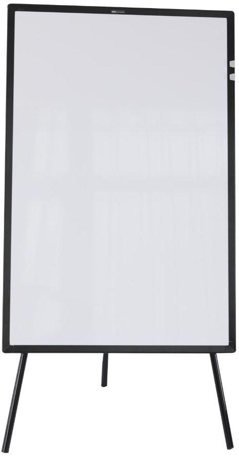 Флипчарт Deli E7885 сталь магнитно-маркерная лак 60x90см на треноге алюминиевая рама белый лоток для
