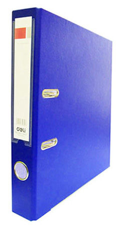 Папка-регистратор Deli E39593BLUE A4 50мм полипропилен/бумага синий мет.окант. разборная смен.карм.