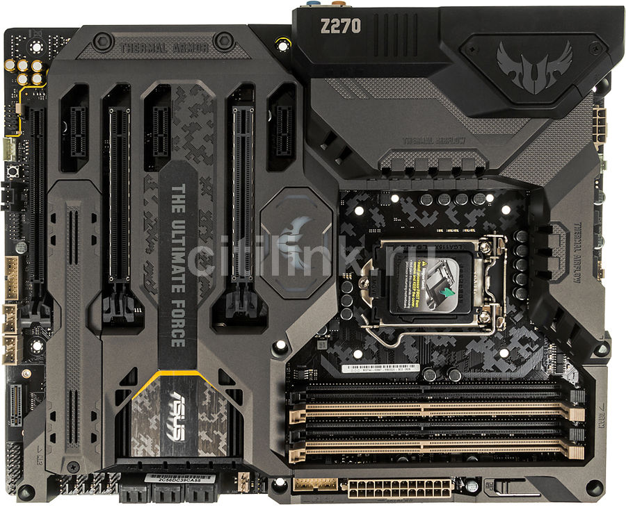Материнская плата ASUS TUF Z270 MARK 1, LGA 1151, Intel Z270, ATX, Ret модуль памяти kingston hyperx fury white series pc3 15000 dimm ddr3 1866mhz cl10 16gb kit 2x8gb hx318c10fwk2 16