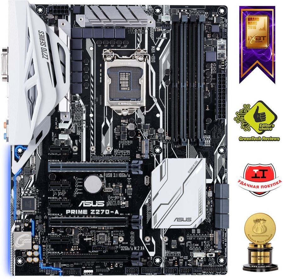 Материнская плата ASUS PRIME Z270-A LGA 1151, ATX, Ret hp pavilion dv6699et special edition laptop lcd screen 15 4 wxga ccfl single substitute replacement lcd screen only not a laptop