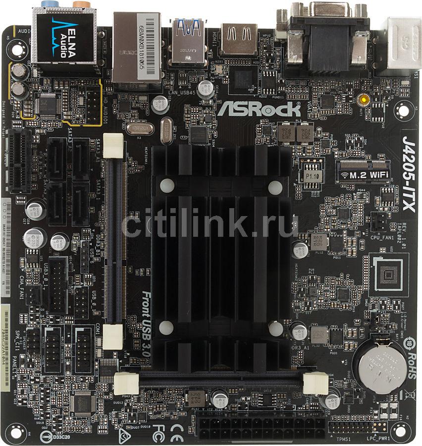 Материнская плата ASROCK J4205-ITX mini-ITX, Ret