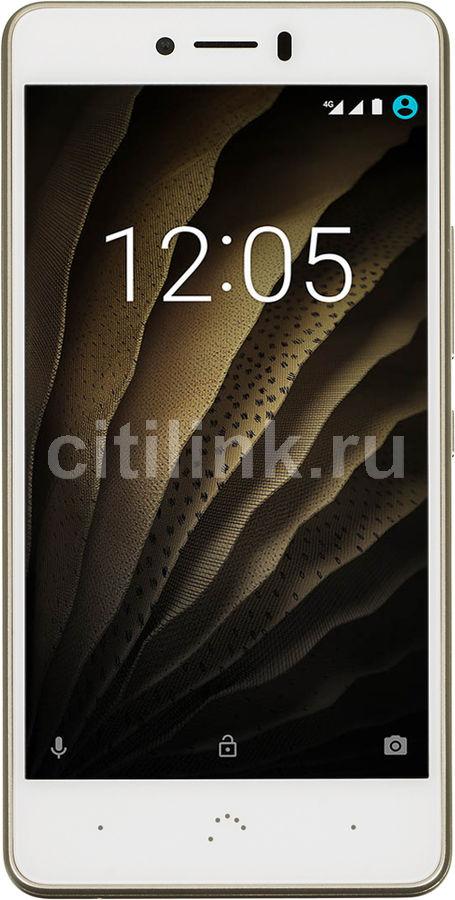 Смартфон BQ Aquaris U Lite  16Gb, золотистый/белый