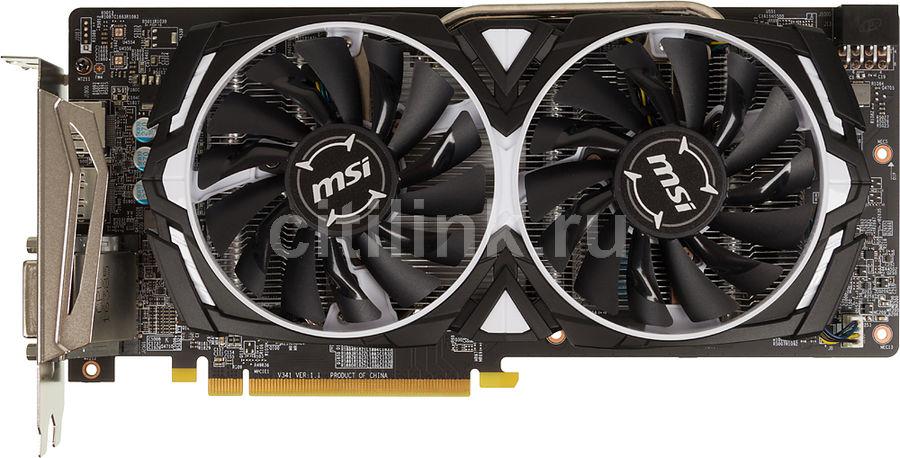 Видеокарта MSI AMD  Radeon RX 480 ,  RX 480 ARMOR 4G OC,  4Гб, GDDR5, Ret