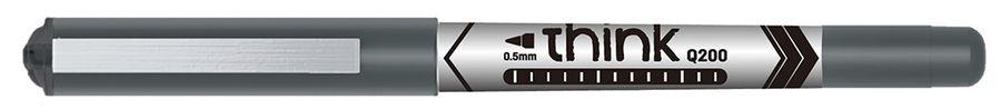 Ручка-роллер Deli Think (EQ20020) 0.5мм стреловидный пиш. наконечник черные чернила