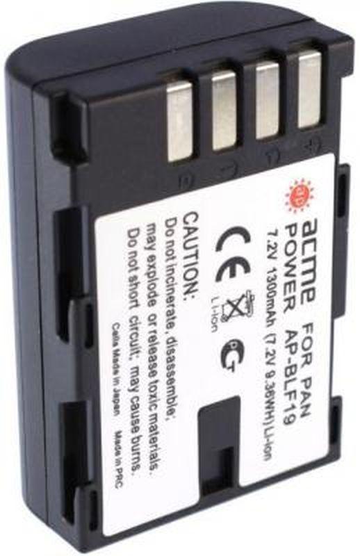 Аккумулятор ACMEPOWER AP-BLF19, Li-Ion,  7.2В,  1300мAч,  для системных камер Panasonic DMC-GH3