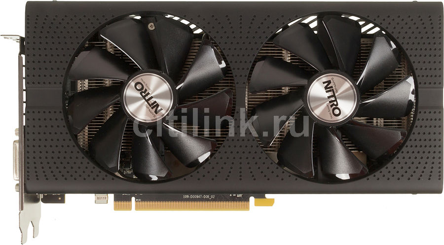 Видеокарта SAPPHIRE Radeon RX 480,  11260-10-20G NITRO+ RX 480 8G,  8Гб, GDDR5, OC,  Ret