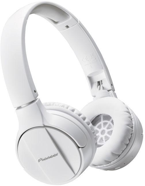Наушники с микрофоном PIONEER SE-MJ553BT-W, Bluetooth, мониторные, белый
