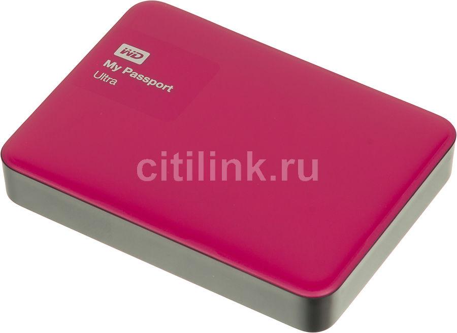 Внешний жесткий диск WD My Passport Ultra WDBNFV0020BBY-EEUE, 2Тб, красный
