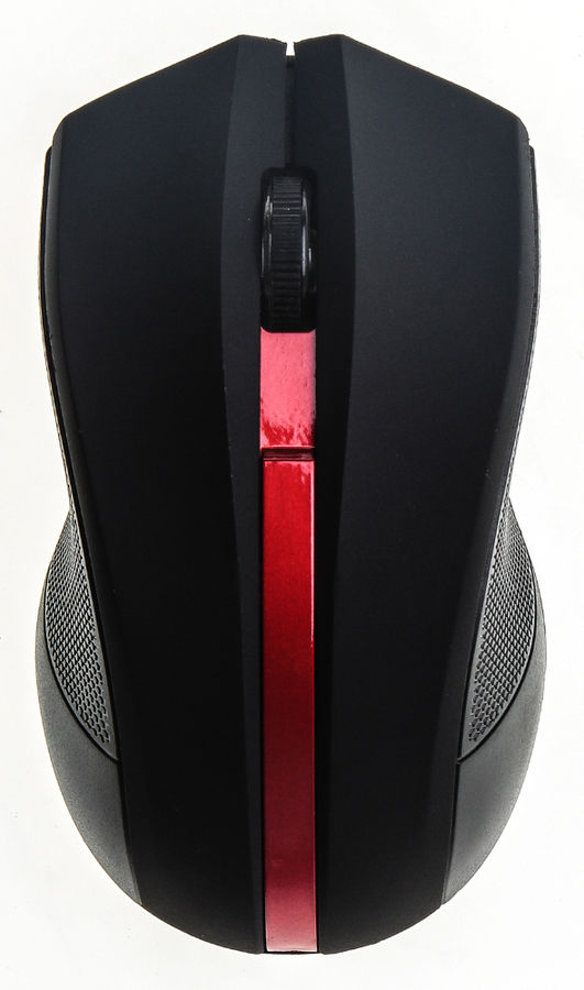 Мышь OKLICK 615MW, беспроводная, USB, черный и красный