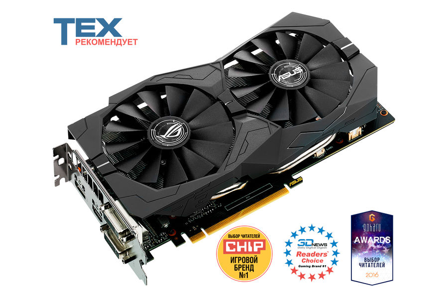 Видеокарта ASUS nVidia  GeForce GTX 1050TI ,  STRIX-GTX1050TI-4G-GAMING,  4Гб, GDDR5, Ret