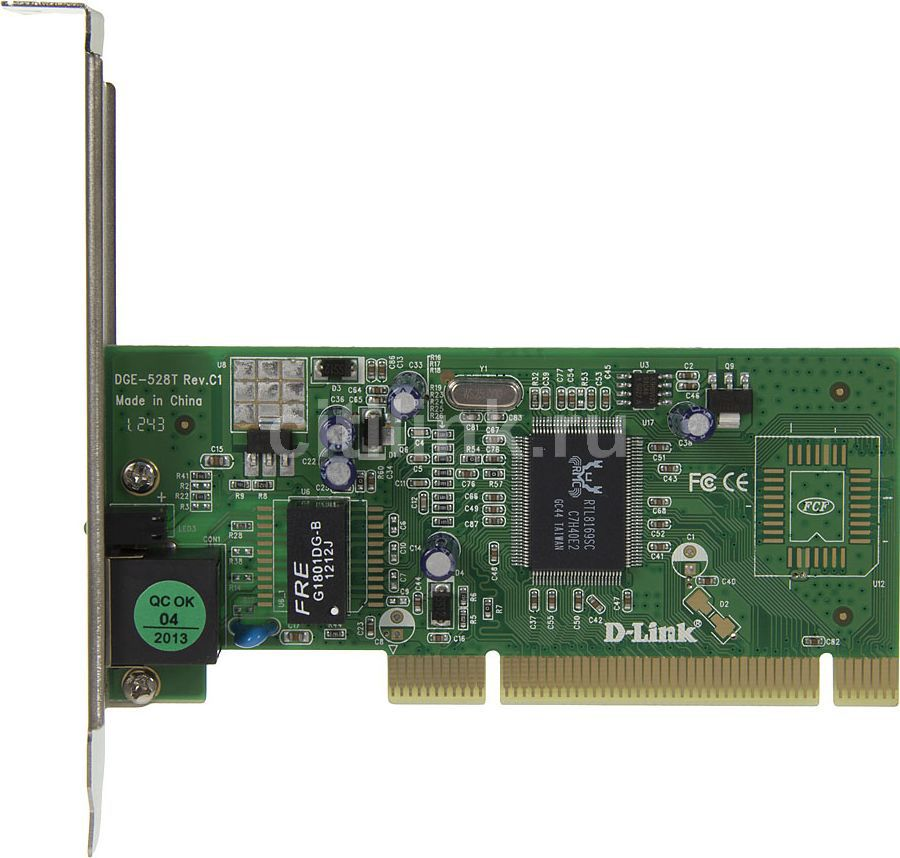 Сетевой адаптер Gigabit Ethernet D-LINK DGE-528T PCI [dge-528t/c1b]