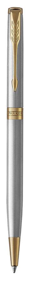 Ручка шариковая Parker Sonnet Core K427 Slim (1931508) Stainless Steel GT M черные чернила подар.кор