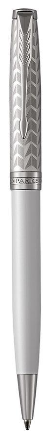Ручка шариковая Parker Sonnet Premium K540 (1931550) Metal&Pearl PGT CT M черные чернила подар.кор.