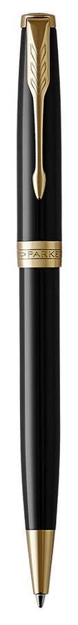 Ручка шариковая Parker Sonnet Core K530 (1931497) LaqBlack GT M черные чернила подар.кор.