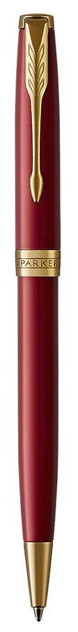 Ручка шариковая Parker Sonnet Core K539 (1931476) LaqRed GT M черные чернила подар.кор.