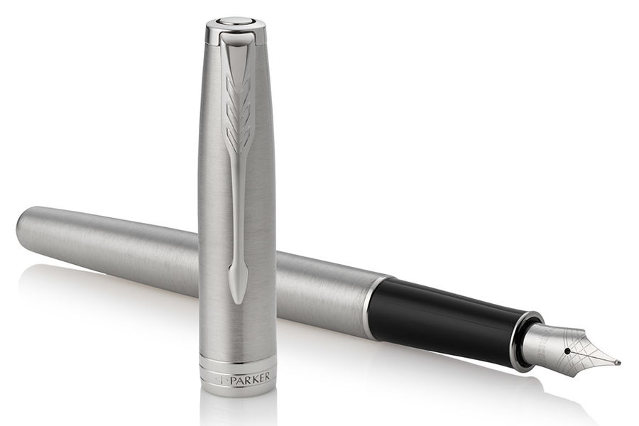 Ручка перьевая Parker Sonnet Core F526 (1931509) Stainless Steel CT F сталь нержавеющая