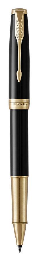 Ручка роллер Parker Sonnet Core T530 (1948080) LaqBlack GT M синие чернила подар.кор.