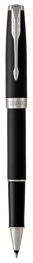 Ручка роллер Parker Sonnet Core T529 (1931523) Matte Black CT F черные чернила подар.кор.