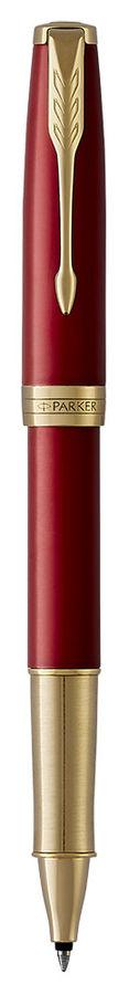 Ручка роллер Parker Sonnet Core T539 (1948085) LaqRed GT F черные чернила подар.кор.