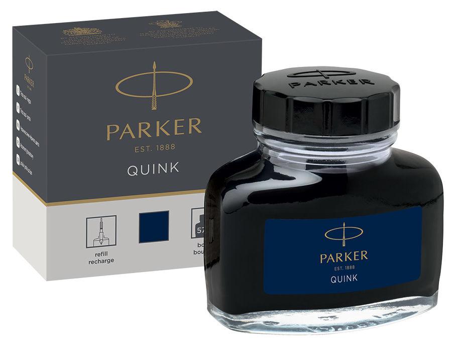 Флакон с чернилами Parker Quink Ink Z13 (1950378) черный/синие чернила 57мл для ручек перьевых