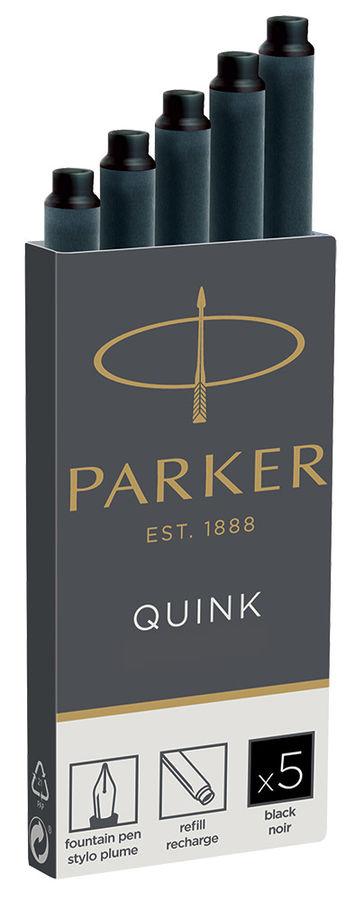 Картридж Parker Quink Ink Z11 (1950382) черный чернила для ручек перьевых (5шт)
