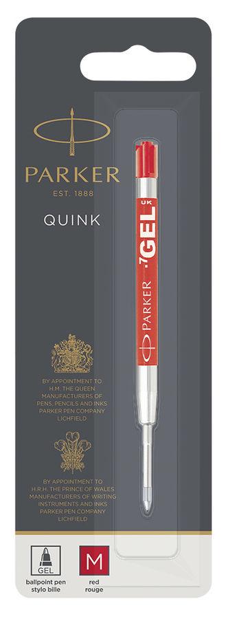 Стержень гелевый Parker Quink GEL Z05 (1950345) M красные чернила для ручек шариковых блистер